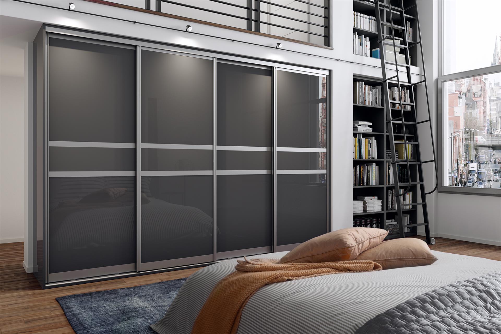 Dust Grey Gloss 3 Panel (narrow centre)