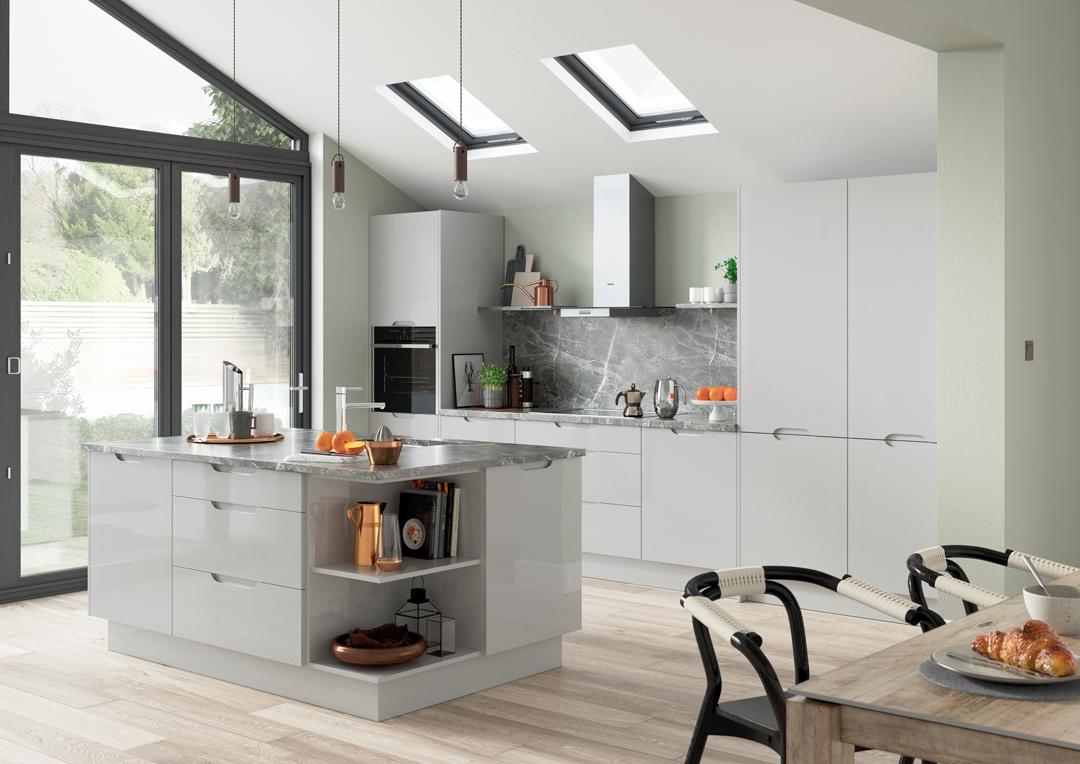 Brentford / Gloss Light Grey
